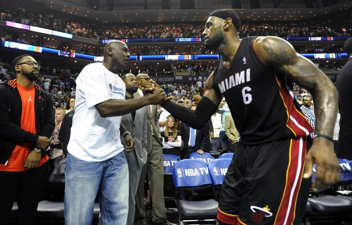 LeBron James and Michael Jordan