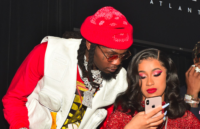 Cardi B Says Offset Has Picked Their Baby S Name: Offset Shows Love To Cardi B In Wake Of 'Drugging
