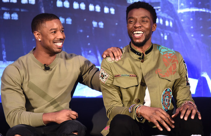 Actors Michael B. Jordan  and Chadwick Boseman