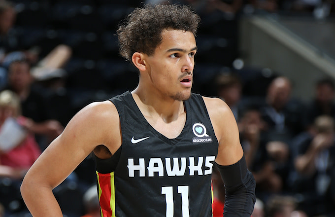 Trae Young #11 of the Atlanta Hawks.