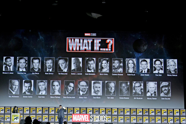 Kevin Feige speaks at the Marvel Studios Panel during 2019 Comic-Con International