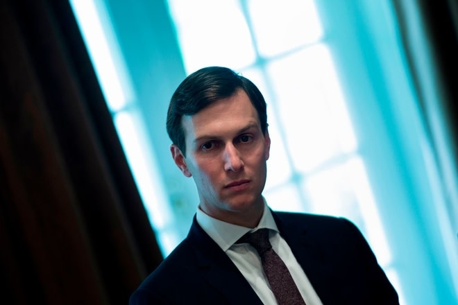 Jared Kushner waits for a meeting with Prime Minister of Malaysia Najib Razak