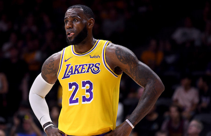 sale retailer 50db2 2c1cd LeBron James Isn't Used to Wearing a Lakers Jersey Yet | Complex