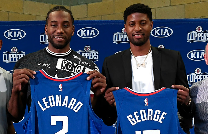 new concept 74881 04923 The Clippers Officially Introduce Kawhi Leonard and Paul ...