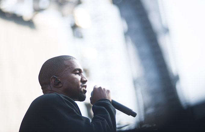 Kanye West at Chance the Rapper's Magnificent Coloring Day Festival