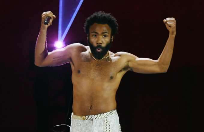 Actor/comedian Donald Glover as recording artist Childish Gambino performs