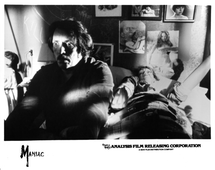 Joe Spinell wakes up in a scene from 'Maniac'