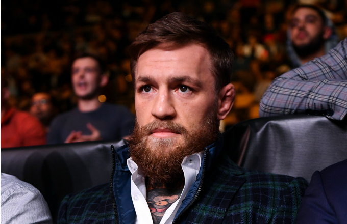 UFC fighter Conor McGregor in attendance at the TD Garden