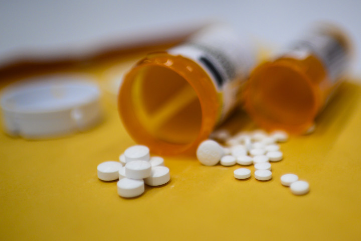 This illustration image shows tablets of opioid painkiller Oxycodon
