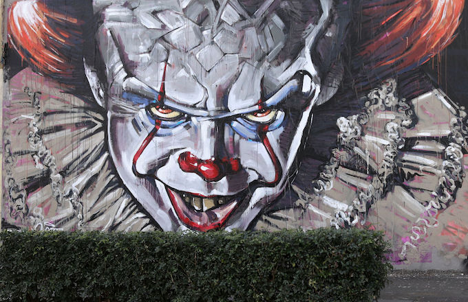 Mural of Pennywise