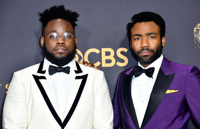 Stephen Glover and actor Donald Glover attend the 69th Annual Primetime Emmy Awards.