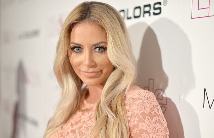 Singer Aubrey O'Day at Life & Style Weekly's 10 Year Anniversary party 2014