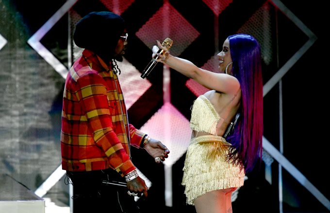 Offset and Cardi B perform onstage