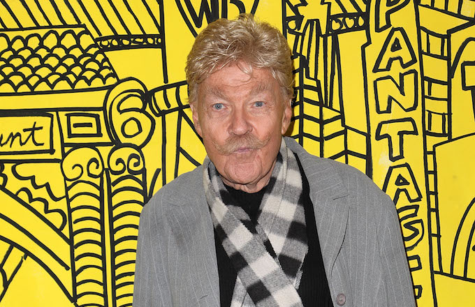 Rip Taylor attends the Red Line Tours of Hollywood unveiling.