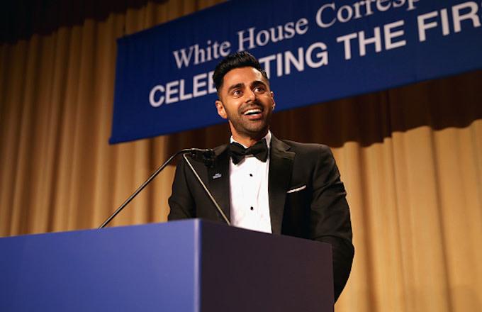 Hasan Minhaj speaks during 2017 White House Correspondents' Association Dinner
