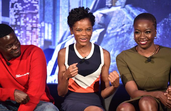 Daniel Kaluuya, Letitia Wright, and Danai Gurira attend the Marvel Studios' 'Black Panther.'