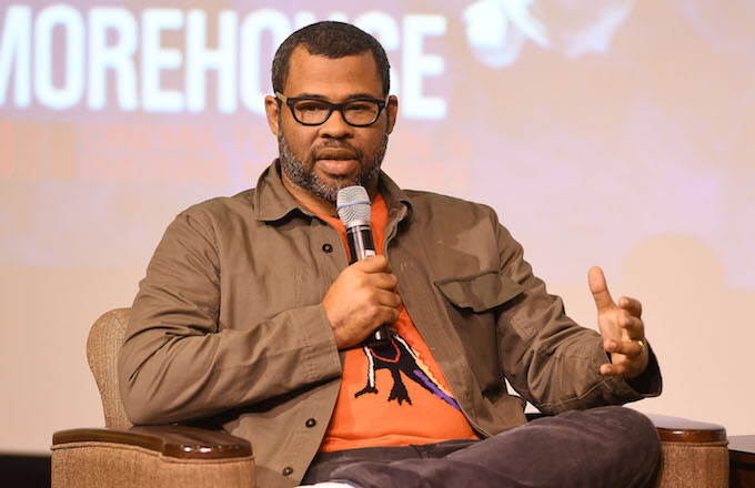 Jordan Peele speaks onstage at 'Get Out' Q&A at Morehouse College.