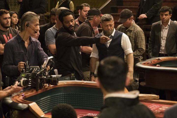 Ryan Coogler on the set of 'Black Panther'
