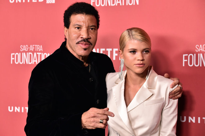 Lionel Richie and Sofia Richie attend the SAG-AFTRA Foundation Patron of the Artists Awards 2017.