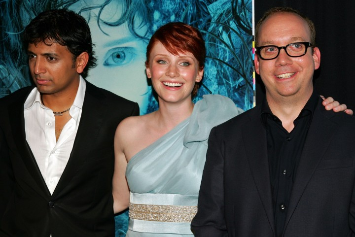 'Lady in the Water''s Bryce Dallas Howard and Paul Giamatti with director M. Night Shyamalan
