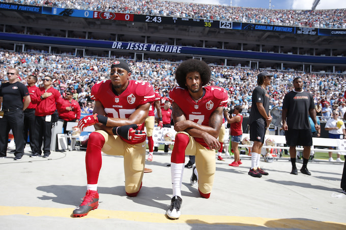 Colin Kaepernick Praises Eric Reid for Continuing National Anthem