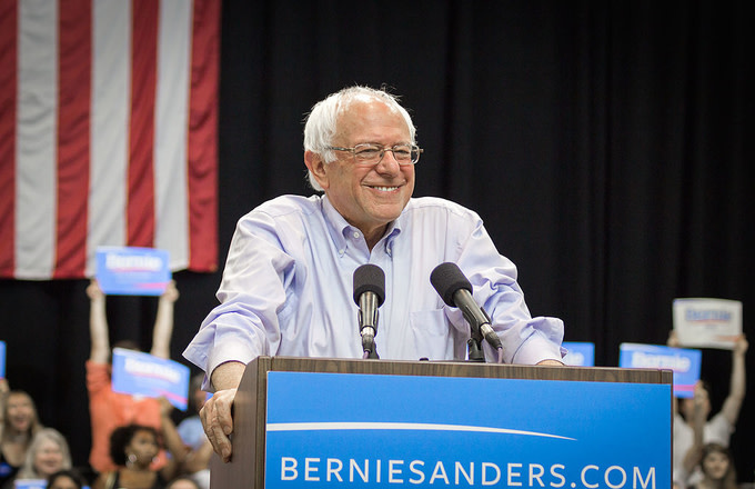 Bernie Sanders at a rally in New Orleans, Louisiana, July 26, 2015