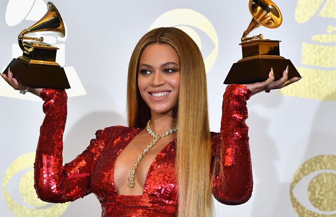 Beyonce at the 2017 Grammys