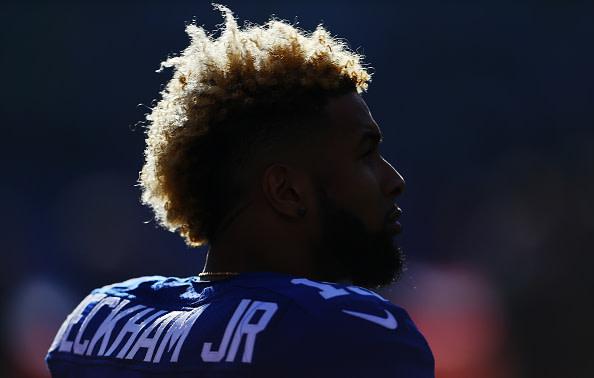 Odell Beckham Jr. looks on during Giants game