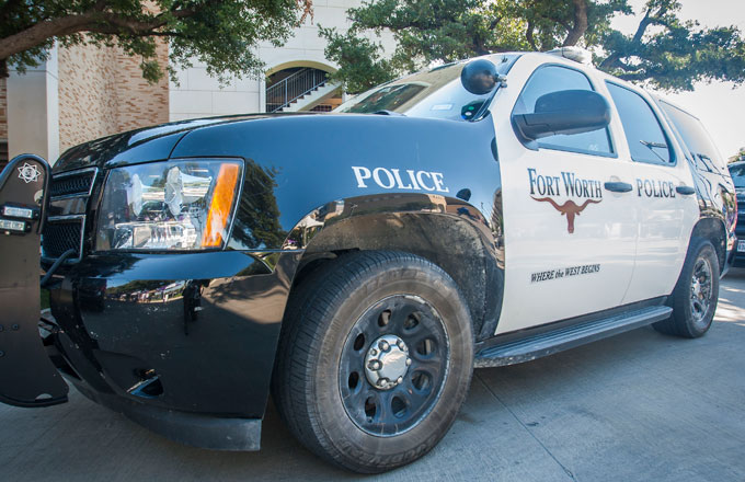 A Fort Worth police SUV