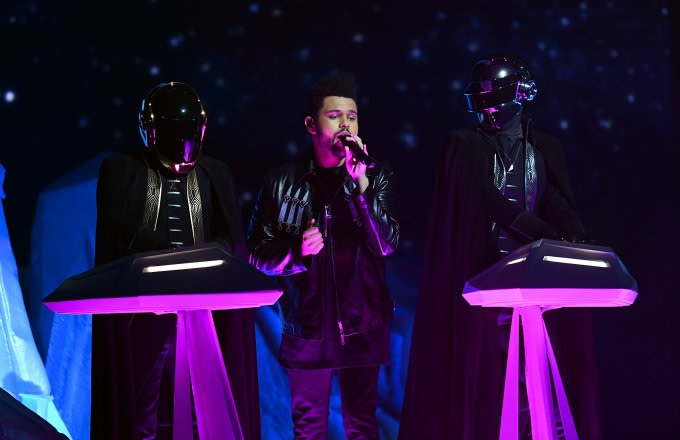 The Weeknd performs.