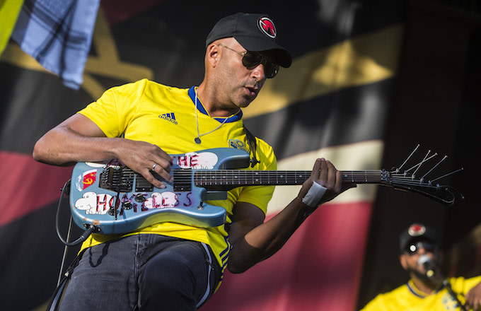 Tom Morello of the band Prophets of Rage.