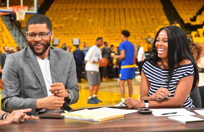 Michael Smith and Jemele Hill, former hosts of ESPN's 'SportsCenter'
