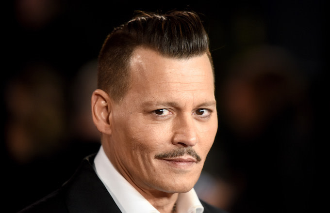 Johnny Depp attends the 'Murder On The Orient Express' World Premiere.
