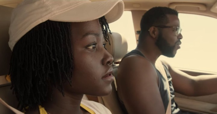 Lupita N'yongo and Winston Duke in Jordan Peele's 'Us'