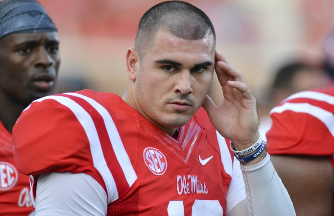 Chad Kelly watches a recent Ole Miss game.