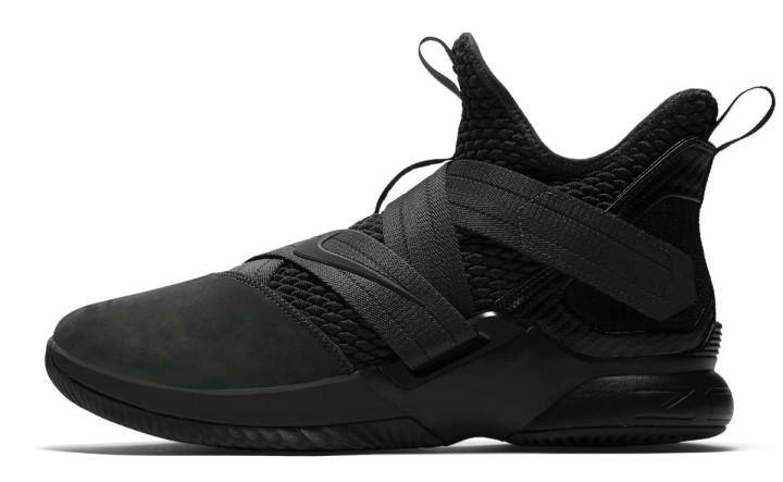 Nike LeBron Soldier 12 XII Zero Dark Thirty Triple Black Release Date AO4054-002 Profile