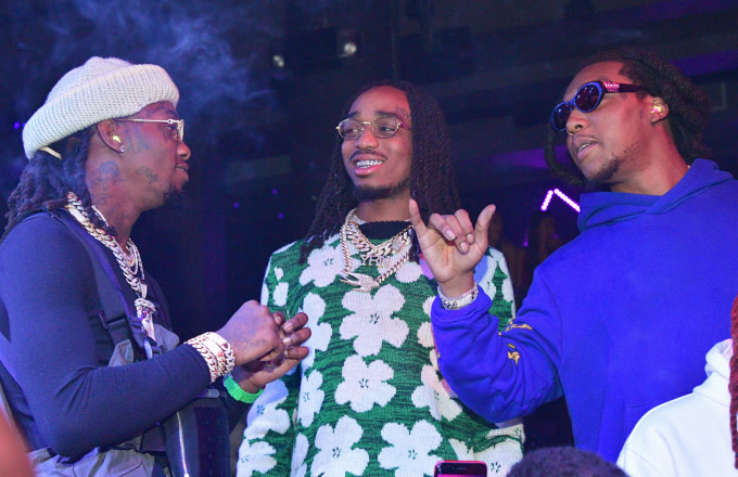 Offset, Quavo and Takeoff of the group Migos and attend a Party at Story Nightclub