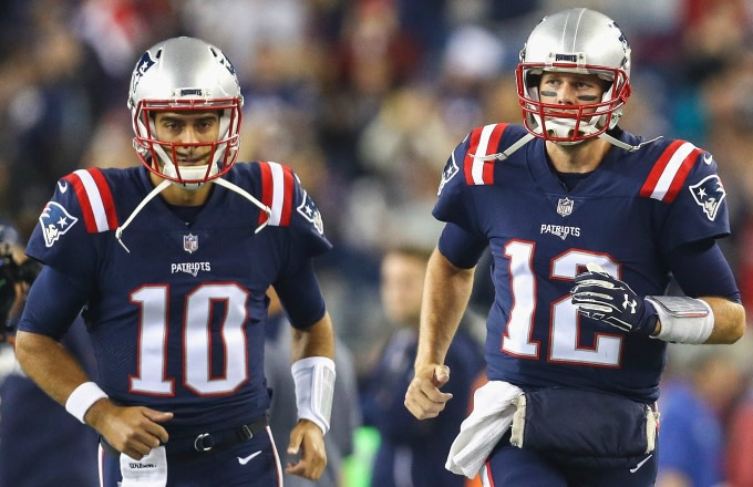 Jimmy Garoppolo and Tom Brady.