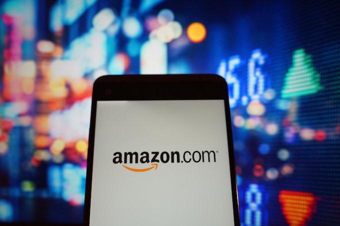 Amazon logo on cell phone