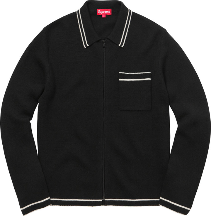 Supreme Zip Up Polo Sweater