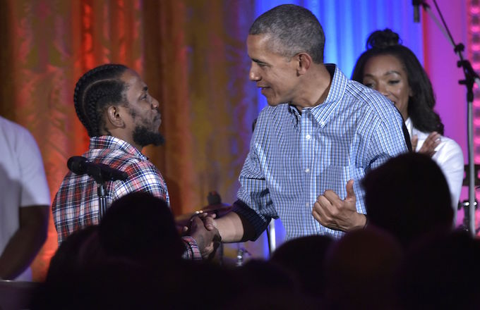 Kendrick Lamar and President Barack Obama