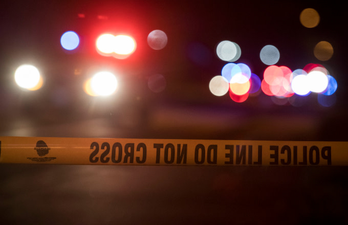 Police tape at the perimeter of a suspected blast scene in Austin, Texas