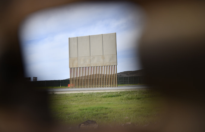 Mexico border wall prototypes