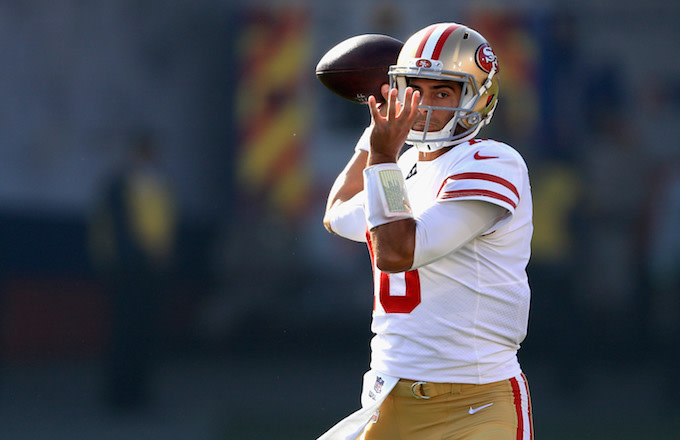 Jimmy Garoppolo #10 of the San Francisco 49ers