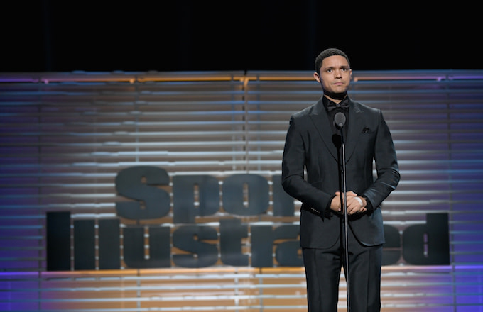 This is Trevor Noah at the 2017 Sportsperson of the Year Show.