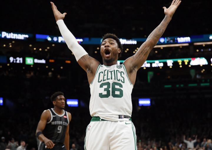Marcus Smart Celtics Pistons 2019