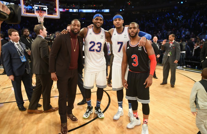 60cc9492714 Dwyane Wade Reveals What Goes Down in His Group Text With LeBron, Carmelo,  and Chris Paul