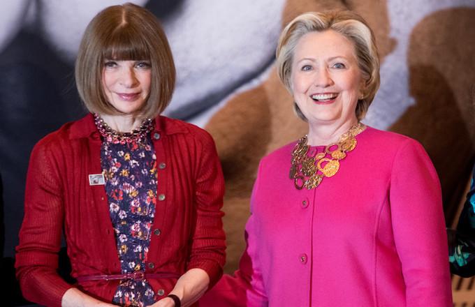 Anna Wintour and Hillary Clinton