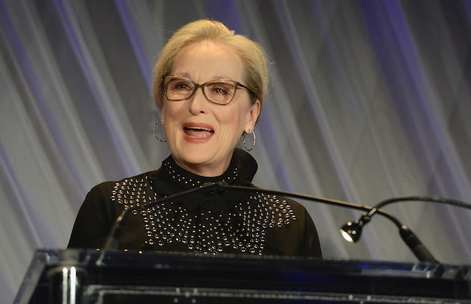 Actress Meryl Streep is honored by the Society of Camera Operators Lifetime Achievement Awards.