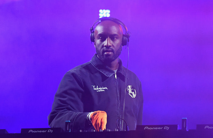 Virgil Abloh performs onstage at SOMETHING IN THE WATER.